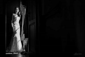 Mariée noir et blanc Label' Emotion Provence